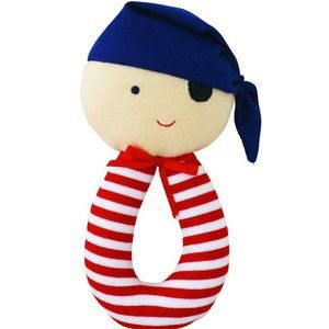 Alimrose Pirate Soft Rattle Grab 15cm Child Toy